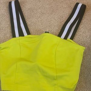 Small neon yellow crop top
